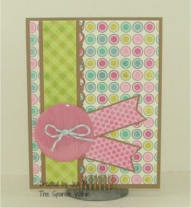 random odds & ends card epoxy button by Jillibean Soup; twinery twine