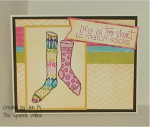 Unity Stamp Co: life is too short and urban chevron stamps; Echo Park, Gina K card stock, Tim Holtz inks